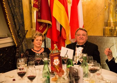 Gala Dinner - Hotel Imperial H.E. Grandmaster Waldemar Wilk and Mrs. Wife