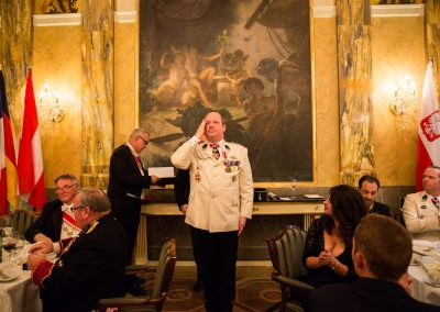 Gala Dinner - Hotel Imperial  Promotion of Chev. Sgt Michael Brossmann / Silver Cross of Merit